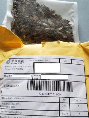 An example of a packet of seeds received by some Georgia residents.