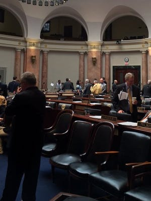 Lawmakers prepare for the final day of the 2016 legislative session on Frankfort.
