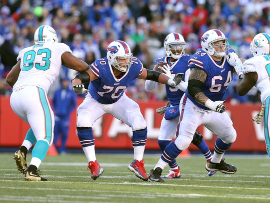 Eric Wood came to the Bills as a first-round pick in