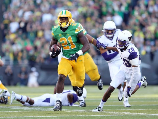 Oregon running back Royce Freeman