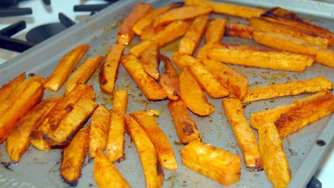 Roast sweet potato fries