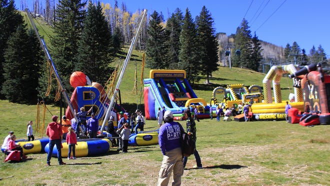 It was a massive playland for adults and children alike at Ski Apache's Party on the Mountain.