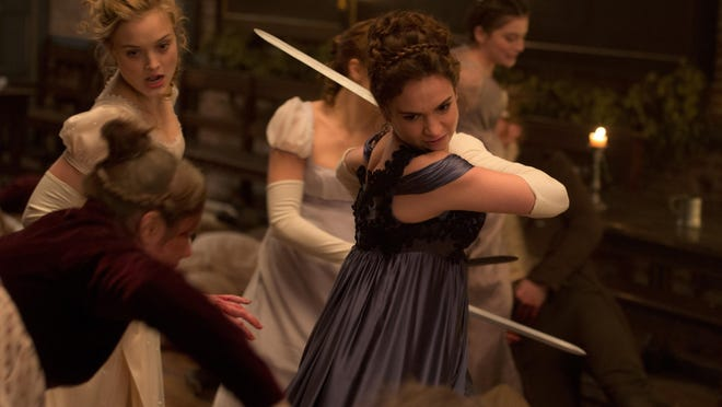 "Lily James and Bella Heathcote in ""Pride and Prejudice and Zombies."""