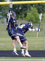 Hartland's Jack Gualtieri (left) and Devin Plemmons