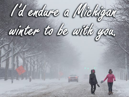 A Michigan Valentine's Day meme for 2017.