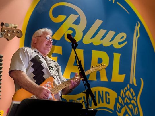 Paul Ruggiero and the Blue Cat Blues band performs in The Juke at Blue Earl Brewing Company on Saturday night in Smyrna.