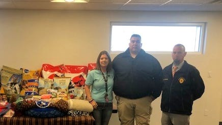 The Deming Police Department partnered with Code Enforcement/Animal Control officers to bring a Furry Christmas to pets at the Deming Animal Shelter.