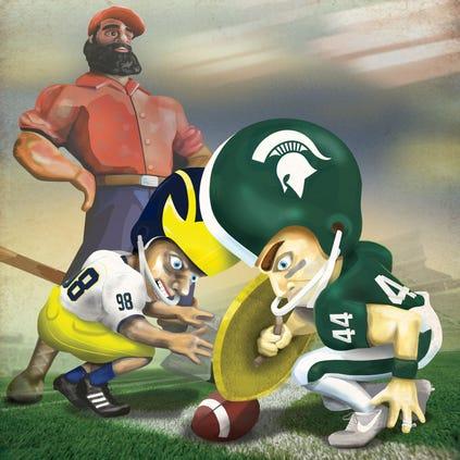 Michigan takes on Michigan State in the annual rivalry