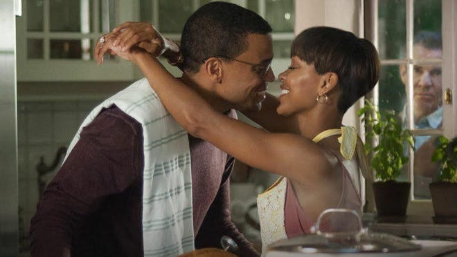 "Michael Ealy, Meagan Good and Dennis Quaid in ""The Intruder."""