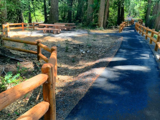 Improvements to grounds include kiosks, railings and picnic areas