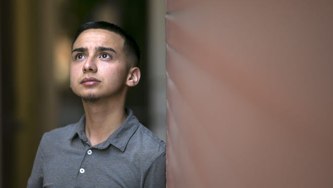 """Jaziel Olmeda, 19, of Phoenix, a """"Dreamer"""" and a sophomore at Phoenix College will be facing tuition hikes this fall semester because the Arizona Supreme Court ruled in April that Arizona colleges can't give in-state tuition to young immigrants covered under DACA."""