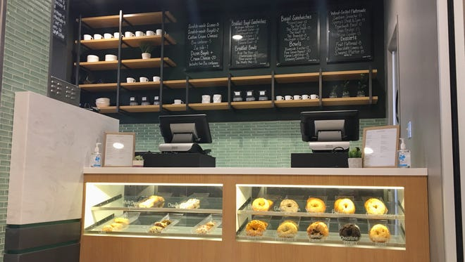TheKitchen, a cafe-style restaurant, opened up at the developing CityFlats Hotel in downtown Port Huron on Thursday, Sept. 20, 2018. Its menu features a variety of scones, bagels, sandwiches and bowls for breakfast, as well as additional wood-grilled flatbreads and desserts for lunch and dinner.