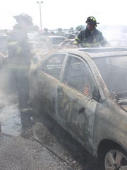 Indianapolis firefighters extinguished a fire at the