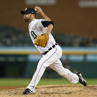 Tigers relief pitcher Louis Coleman hasn't allowed