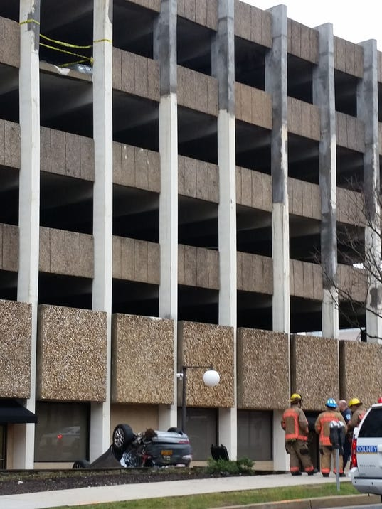 Audi Falls From 4th Floor Of Towson Garage
