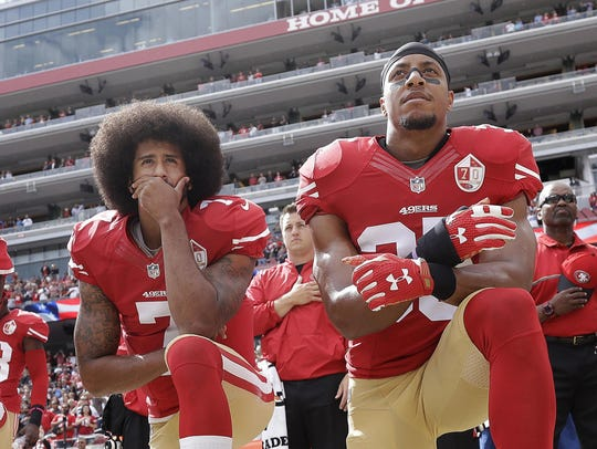 In this Oct. 2, 2016 file photo, San Francisco 49ers
