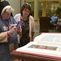 Saint John's Bible on display at St. Mary Mercy Hospital