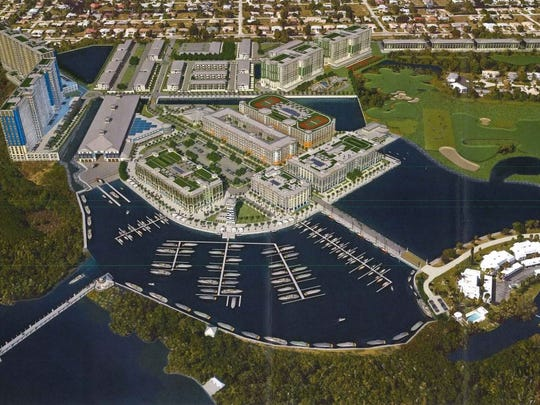 A rendering of the proposed North Fort Myers mixed-use development.