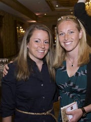From 2014, Northern Highlands soccer coaches, Chrissy Rabadan, left, and Tara Madigan, at the Northern Highlands Hall of Fame dinner.
