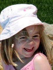 Madeleine McCann on May 3, 2007, the same day she went missing from her family's holiday apartment in southern Portugal.
