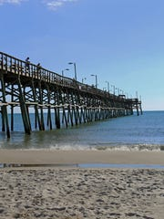 Oak Island Pier is known for saltwater fishing. There is also a restaurant and bar on the pier.