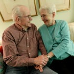 The Wedding photos of Doug Caulkins and Ardis Caulkins who have been married for 58 years.
