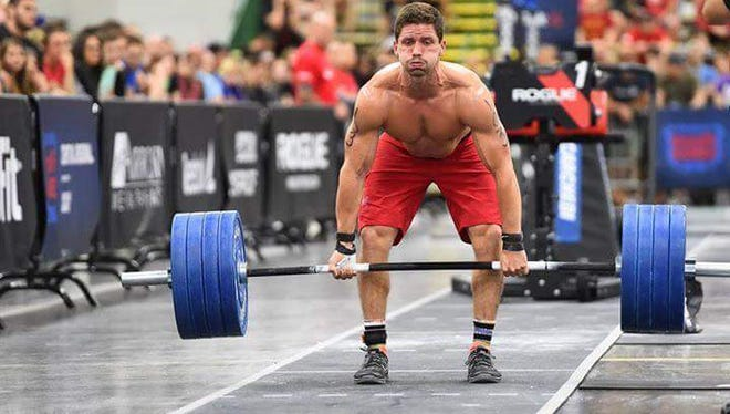 Zak Carchedi performs a deadlift at the CrossFit Regionals on Saturday, May 28 in Columbus, Ohio.