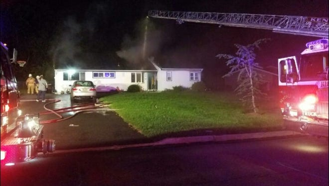A fire damaged the kitchen of a home in the Kendall Park section of South Brunswick on Sunday night.