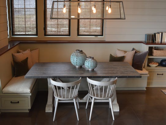 Amy Carman's clients opted for a dining nook rather