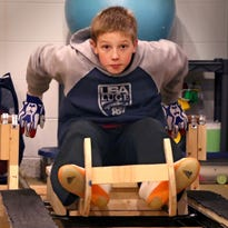 With an eye toward the Olympics one day, this Brookfield boy, 12, made a luge track in his basement