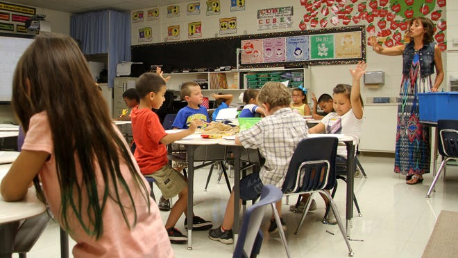 Students worked in the classroom during last summer's K-3 Plus program.