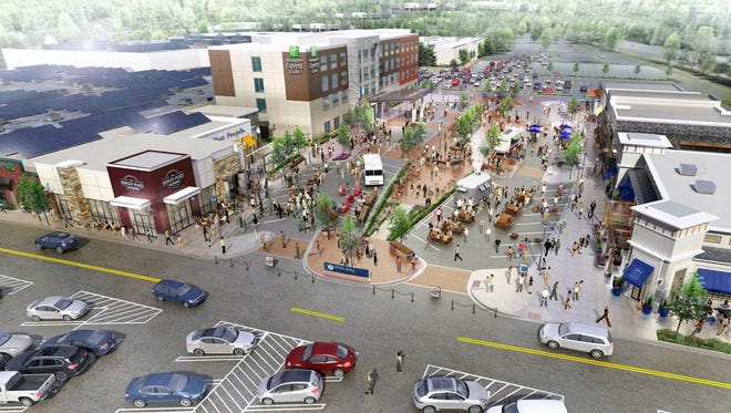 Future plans for the Arnot Mall include more open air shopping and a Holiday Inn Express hotel.