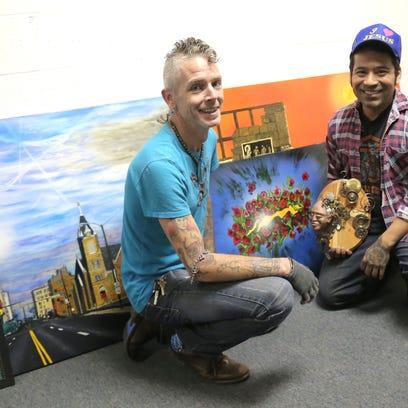 Lucas Hargis and Aurelio Villa Luna Diaz display the