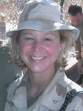 A photo of ProMedica Doctor Stephanie Cole from her time serving the Navy. Cole was active duty from 2001 to 2013 and was an inactive Naval reservist from 1997 to 2001.