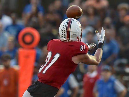 La Salle's Josh Whyle catches a touchdown pass against