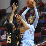 Brandi Wingate leads the Lady Techsters against Middle Tennessee on Thursday.