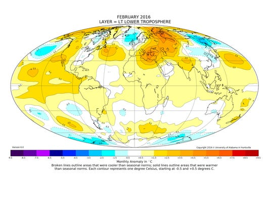 Hot, hot, hot: February breaks worldwide temperature record