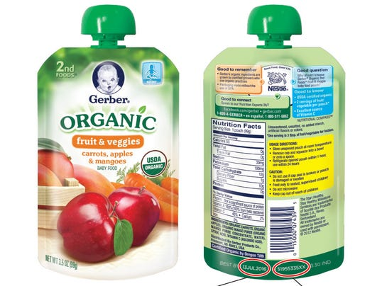 Only Organic Baby Food Recall