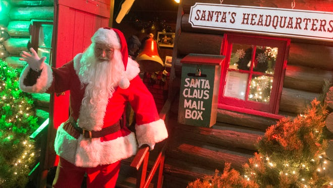 Santa leaves the cabin, which has been used in Hanover for nearly 80 years, Saturday, Dec. 23, 2017. Santa's Cabin in Hanover will be replaced next season, it will be a little larger, making it accessible to handicap children.