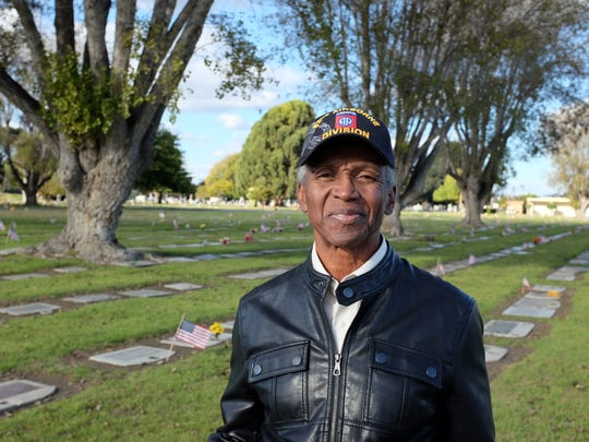 Veteran Wesley Haye, photographed at Garden of Memories in Salinas on Tuesday, November 10th.