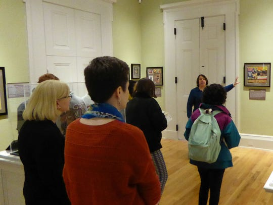 Director Trina Roberts provides a tour of the Old Capitol