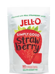 Jell-O Simply Good strawberry Jell-O.