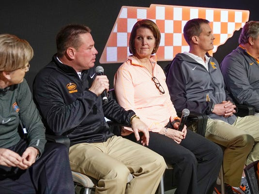 Butch Jones, Holly Warlick, Beth Alford Sullivan, Matt Kredich, Dave Parrington