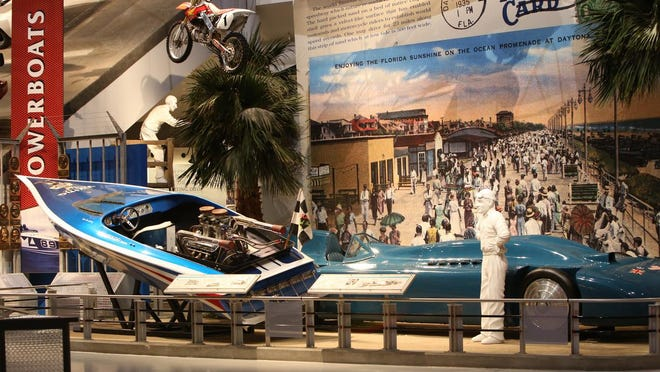 The inside of the Motorsports Hall of Fame of America.