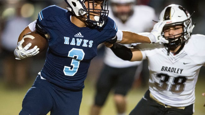 Hardin Valley's Aaron Dykes (3) rushed for 1,483 yards and 15 touchdowns last season.