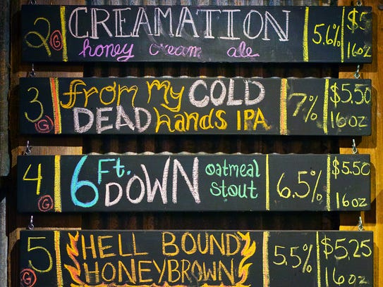 Bury Me Brewing in Fort Myers offers a large variety