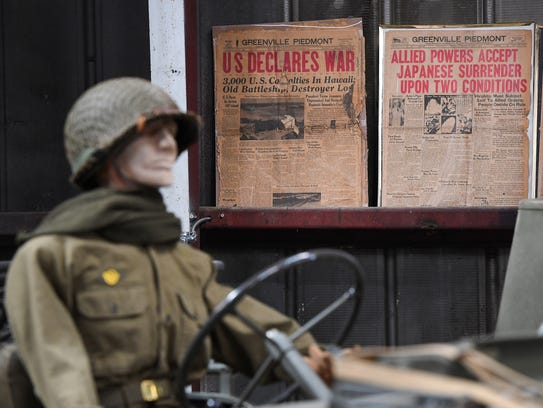 Military memorabilia on display at the Military History