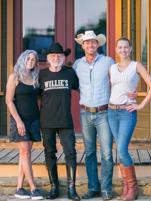 Annie and Willie Nelson, left, approached Orion and Tina Weldon, founders of TerraPurezza, earlier this year about bringing regenerative agriculture to the Nelsons' 500-acre Luck Ranch.