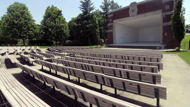 The Guy C. Myers Bandshell at Brookside Park, shown here Tuesday, will look like this through June as Ashland's summer concert series has been delayed until at least July.