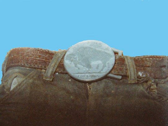 The belt buckle Carol Ann Cole was wearing when her